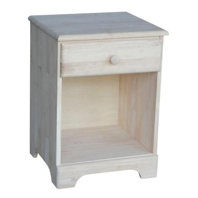 International Concepts 1-Drawer Unfinished wood Nightstand