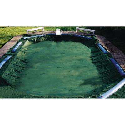 Ripstopper Rectangular Green In Ground Winter Pool Cover