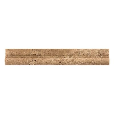 Noce 2 in. x 12 in. Travertine Crown Wall Tile Product Photo