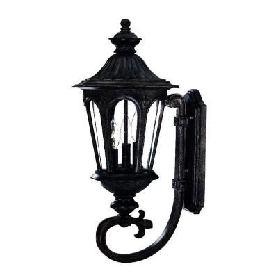 Acclaim Lighting Marietta Collection Wall-Mount 3-Light Outdoor Black Coral Light Fixture