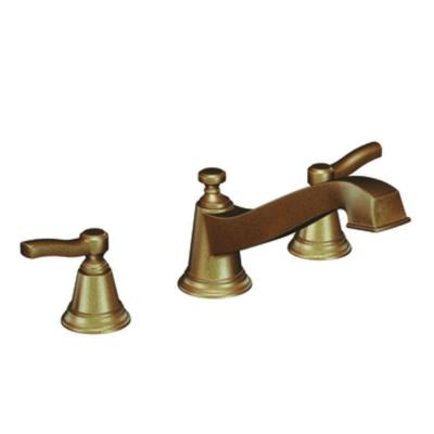 MOEN Rothbury 2-Handle Low Arc Roman Tub Faucet in Antique Bronze (Valve not included)