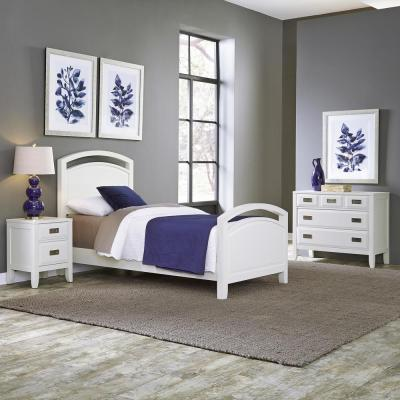 Home Styles Newport 3-Piece White Twin Bedroom Set