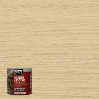 8-oz. #ST133 Yellow Cream Semi-Transparent Weatherproofing Wood Stain Sample