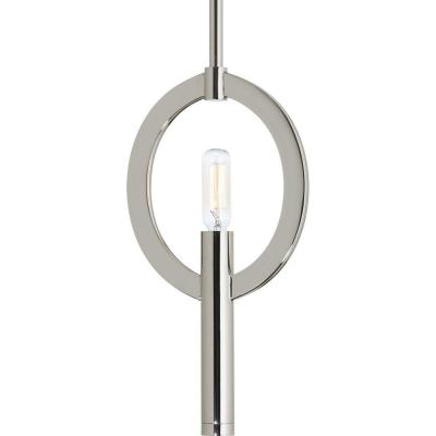 Draper Collection 1-Light Polished Nickel Mini Pendant