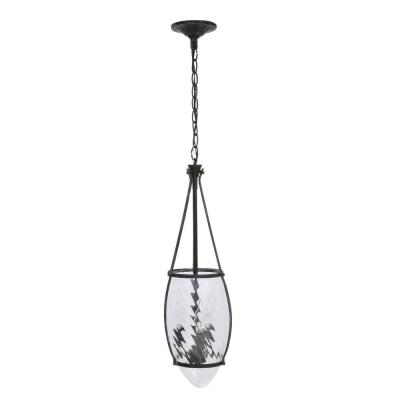 World Imports Crystal Elegance Collection 3-Light Natural Iron Hanging Pendant