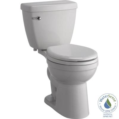 Delta Foundations 2-Piece 1.28 GPF Single Flush Round Front Toilet with Sanborne Slow-Close NightLight Seat in White