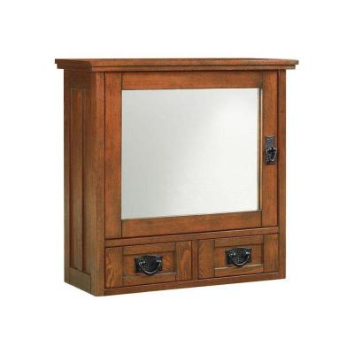 Home Decorators Collection Artisan 23 1 2 In W Wall Cabinet With Glass Doors
