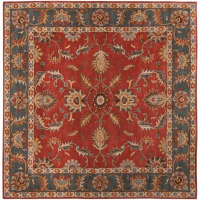 John Rust Red 6 ft. Square Area Rug