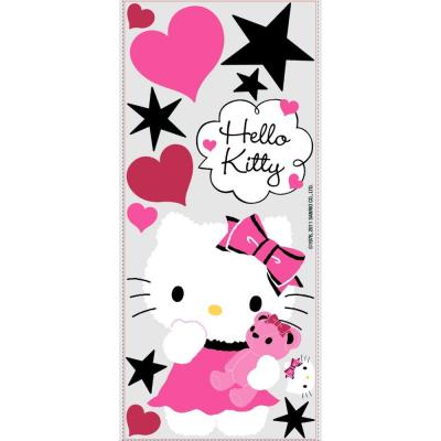 null 18 in. x 40 in. Hello Kitty - Couture 13 -Piece Peel and Stick Giant Wall Decal