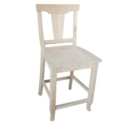 International Concepts Arlington 24 in. Unfinished Wood Bar Stool