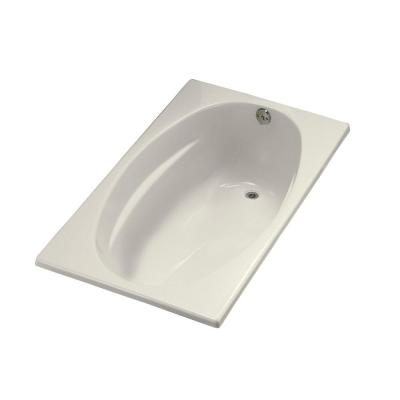 ProFlex 5 ft. Right-Hand Drain with Flange Bathtub in Biscuit Product Photo