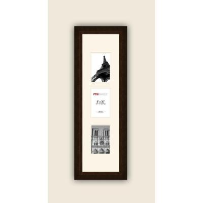 PTM Images 3-Opening Vertical 4 in. x 6 in. White Matted Bronze Photo Collage Frame