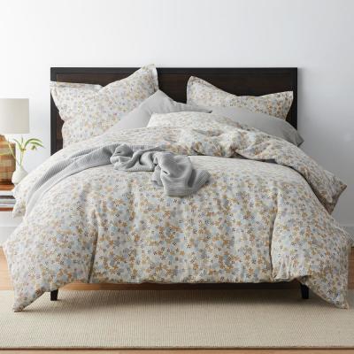 Frasier Floral Organic Flannel Duvet Cover