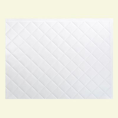 Fasade 24 in. x 18 in. Quilted PVC Decorative Backsplash Panel in Gloss White