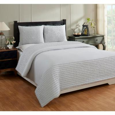 Olivia Collection in Motif Design 100% Cotton Tufted Chenille Comforter