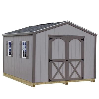 Elm 10 ft. x 16 ft. Wood Storage Shed Kit with Floor Including 4 x 4 Runners Product Photo