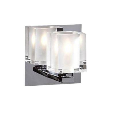 PLC Lighting 1-Light Polished Chrome Sconce with Frost Glass