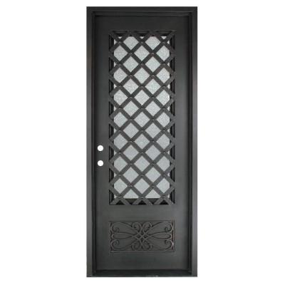 40 in. x 97.5 in. Luce Lattice Classic 3/4 Lite Painted