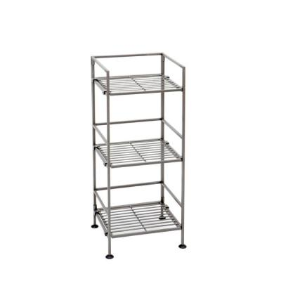 Seville Classics 3-Tier 13 in. Iron Square Tower Shelf