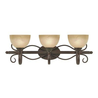 null Myers Collection 3-Light Peppercorn Bath Vanity Light