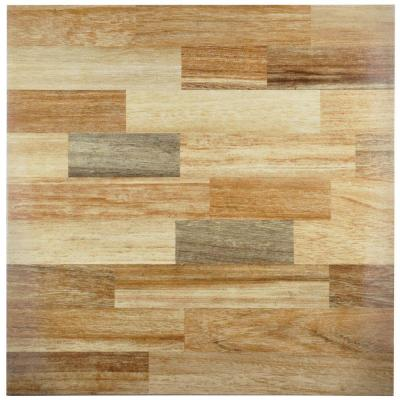 Dallas Beige 17-3/4 in. x 17-3/4 in. Ceramic Wall and Floor