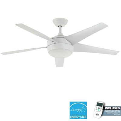 Hampton Bay Windward IV 52 in. White Energy Star Ceiling Fan