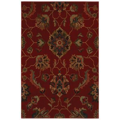 null Canton Red 10 ft. x 13 ft. Area Rug