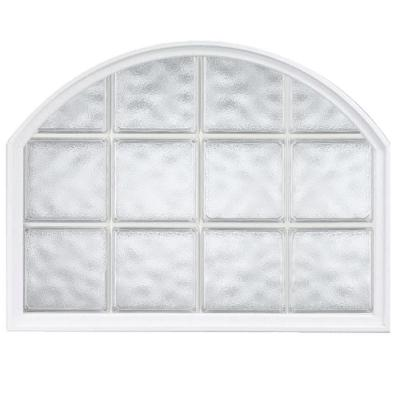 42 in. x 50 in. Acrylic Block Arch Top Vinyl Window