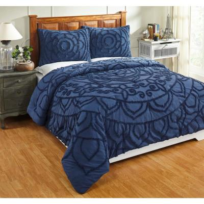 Cleo Collection in Floral Design Tufted Chenille Comforter