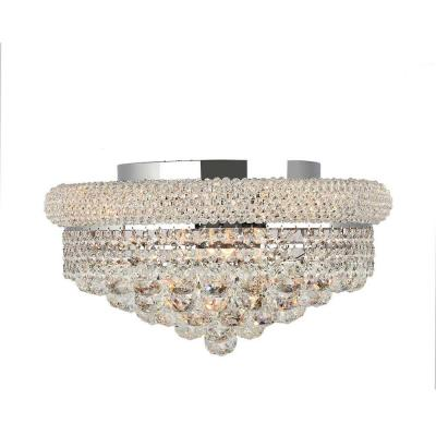 Empire Collection 8-Light Chrome and Clear Crystal Flushmount Product Photo