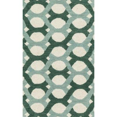 Weston Lifestyle Collection Blue/Green 2 ft. 3 in. x 3 ft.