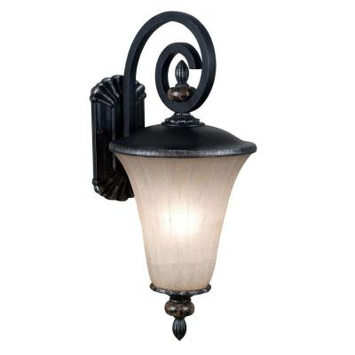 Kenroy Home Leafston Medium Wall Mount Outdoor Mercury Bronze Lantern-DISCONTINUED