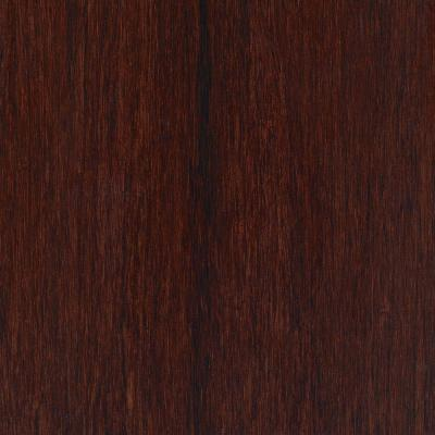 Hand Scraped Strand Woven Bamboo Cherry Sangria Vinyl Plank Flooring - 5 in. x 7 in. Take Home Sample Product Photo