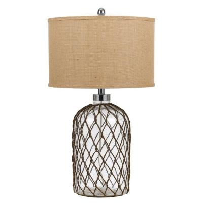 27.5 in. Roped Glass Table Lamp