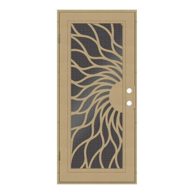 36 in. x 80 in. Sunfire Desert Sand Left-Hand Surface Mount