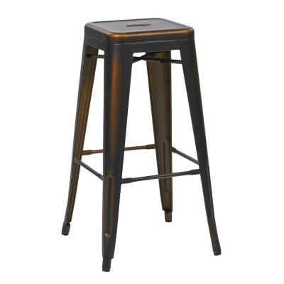 Work Smart Bristow 30.25 in. Antique Copper Bar Stool (Set of 4)