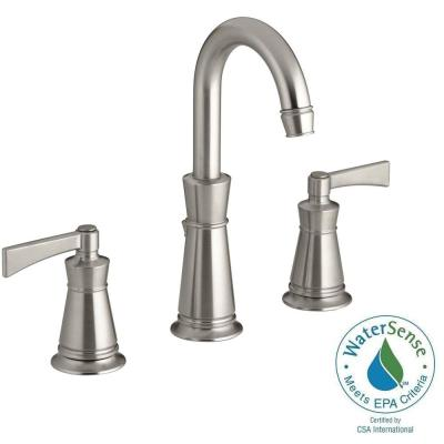 Archer 8 in. Widespread 2-Handle Mid-Arc Water-Saving Bathroom Faucet in Vibrant