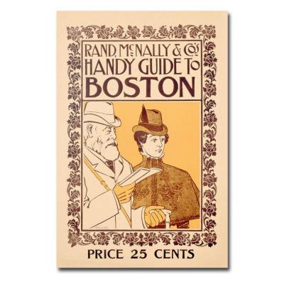 Trademark Fine Art 22 in. x 32 in. Rand McNallys & Cos Handy Guide to Boston Canvas Art