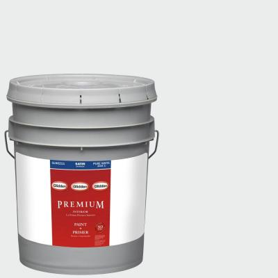 5-gal. #HDGCN29U Crystal Clear White Satin Latex Interior Paint with Primer