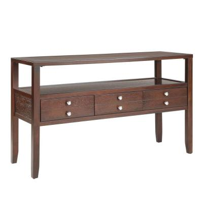 Brannan 3-Drawer Cherry Console Table Product Photo