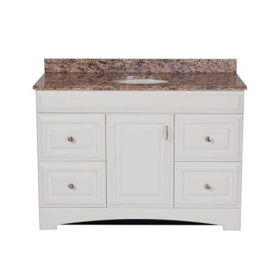 Providence 48 in. Vanity in White with Stone Effects Vanity Top