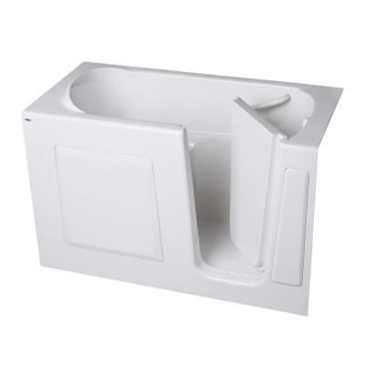 American Standard Gelcoat 4.25 ft. Walk-In Whirlpool Tub with Right Hand Quick Drain and Extension Kit in White