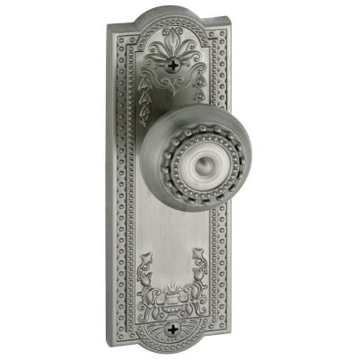 Parthenon Satin Nickel Plate with Privacy Knob