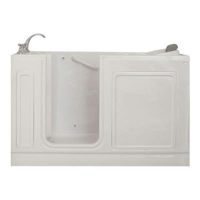 Acrylic Standard Series 60 in. x 32 in. Walk-In Whirlpool Tub with Quick Drain in White Product Photo