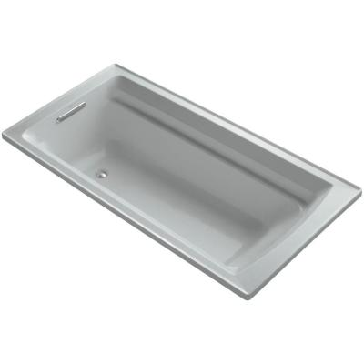 Archer 6 ft. Left Drain Soaking Tub in Ice Grey Product Photo