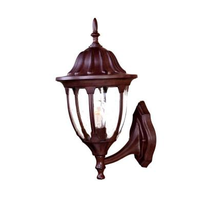Acclaim Lighting Suffolk Collection Wall-Mount 1-Light Outdoor Burled Walnut Fixture