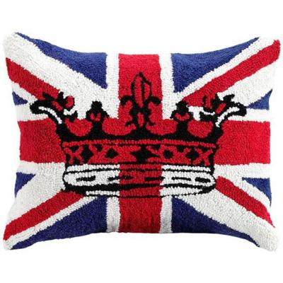 Home Decorators Collection Hooked 18 in. Red Square Keep Calm Pillow