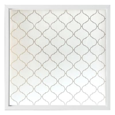 47.5 in. x 47.5 in. Baroque Decorative Glass Picture Vinyl Window - White Product Photo