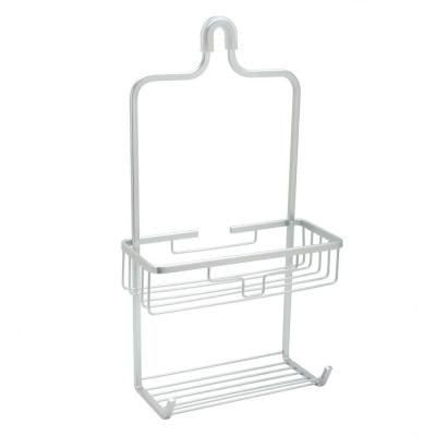NeverRust Aluminum Shower Caddy with Bucket Shelf in Satin Chrome