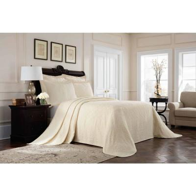 Williamsburg Richmond Solid 300-Thread Count Cotton Coverlet